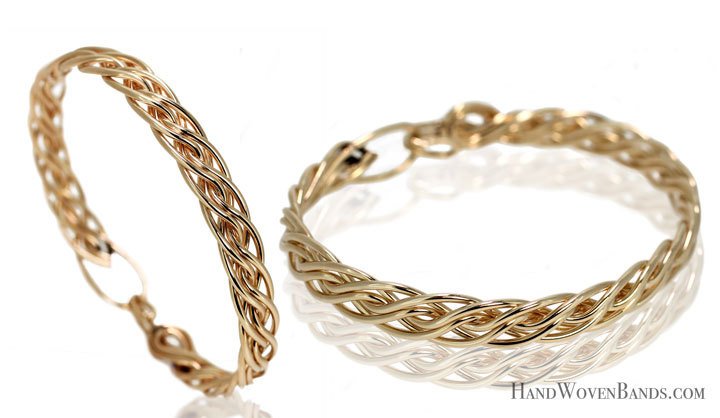 This is part of Todd Alan's handwoven gifts. Each piece is handmade by Todd Alan using his signature braided style. These are woven braided bracelets