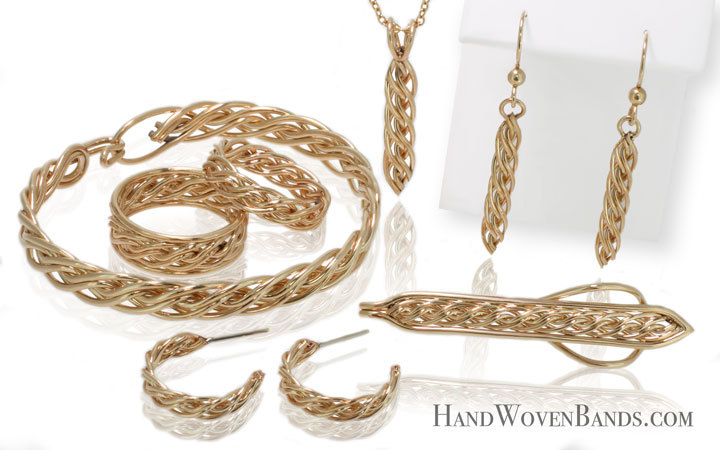 This is part of Todd Alan's handwoven gifts. Each piece is handmade by Todd Alan using his signature braided style. This is a collection showing all of his artistic pieces