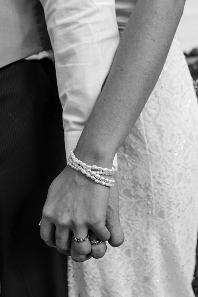 Todd Alan Unique Braided Wedding Ring Customer Photo black and white with five strand braid