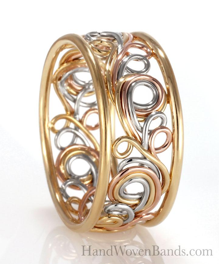 Swirl Ring Braided Rainbow ring