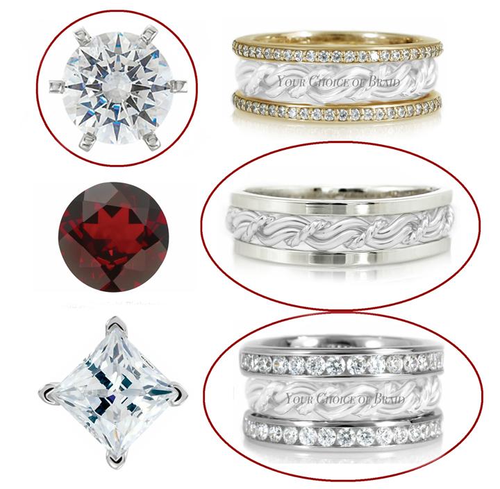 Diamond and gemstone band options